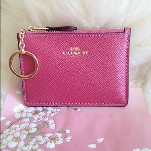 Coach Metallic Mauve Gold Mini Skinny ID Case